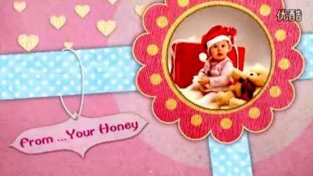 AE模板—卡通风格,可爱的祝你生日快乐视频贺卡