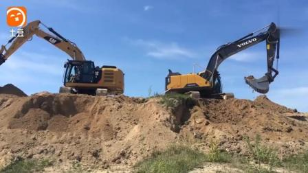 卡特323E挖掘机VS 沃尔沃EC250, 这结果你能想到吗