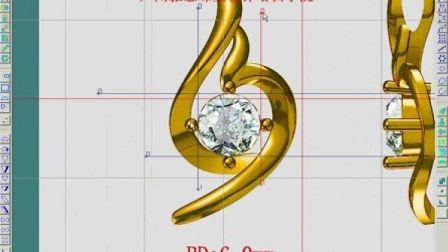 珠宝设计jewelcad(入门到专业)视频教程第十八课jewelcad假反吊坠