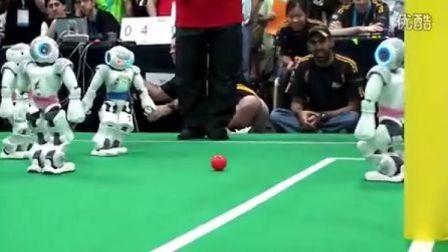 机器人踢足球--博乐机器人表演