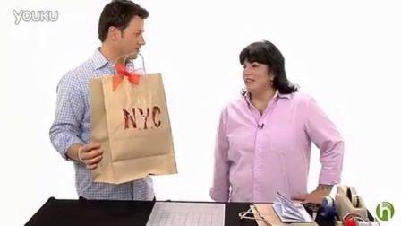 牛皮纸袋自制礼物袋