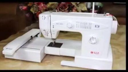 电脑绣花机 电脑刺绣机十字绣针法操作演示视频-成都世斌缝纫设备