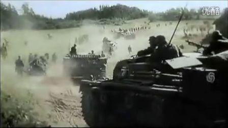 二战:海陆空战场上德军战斗场景实拍彩色视频