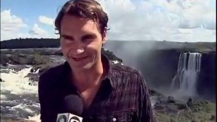 """2012""""吉列费德勒之旅""""费德勒离开巴西前到Iguassu大瀑布游玩"""