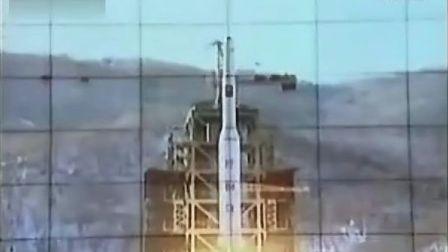 实拍朝鲜发射光明星3号卫星现场