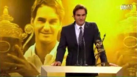 费德勒第5次赢得瑞士年度体育人奖2012-12-16
