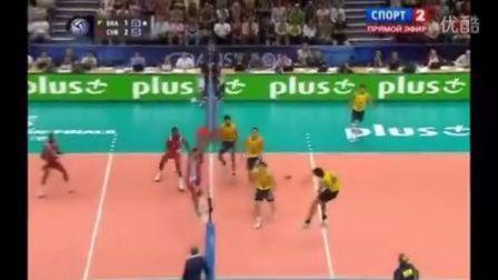 【排球轶事】巴西男排副攻 Lucas 难以置信的扣球下网方式