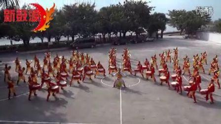 威风锣鼓《劲旅雄风》:武警深圳边防80人威风锣鼓队训练现场!