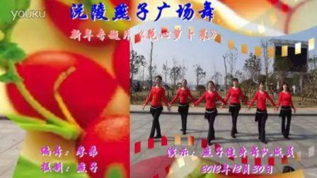 沅陵燕子广场舞《花心萝卜菜》(附背面演示)