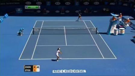 2013澳大利亚网球公开赛女单R2 郑洁VS斯托瑟 (自制HL)