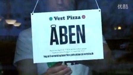 「绿色广告」丹麦Vestfor供暖公司 — 节能送披萨