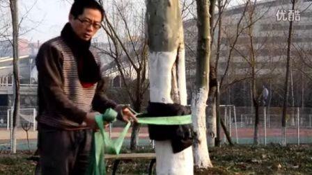 蛇年初一南京不倒奥体公园走扁带安装教程(针对中高级绳友)