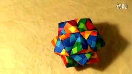 【折纸教程】之 纸球折法(二十面)