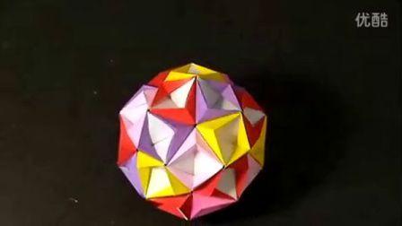 【折纸教程】之 纸球折法(Kusudama Starsea)