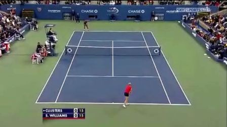 2009美国网球公开赛女单SF 克里斯特尔斯VS小威廉姆斯 (自制HL)