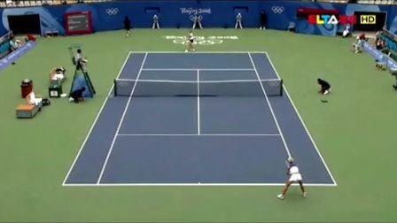 2008北京奥运会女单决赛 德门蒂耶娃VS萨芬娜 (自制HL)
