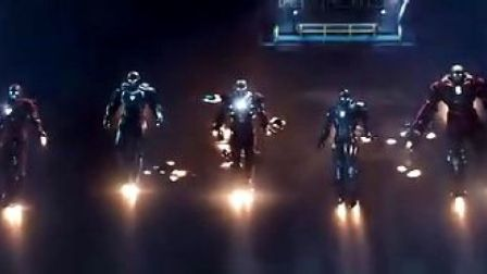 《钢铁侠3》剧场版预告片(有不同镜头)