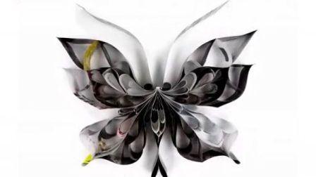 胡小萍小姐创作的「再生蝶」系列作品