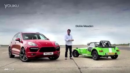Porsche Cayenne Turbo S vs Caterham Supersport