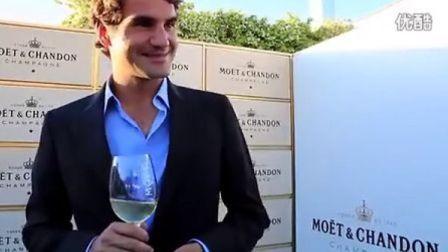 2013费德勒在罗马参加Moët  Chandon香槟宣传活动