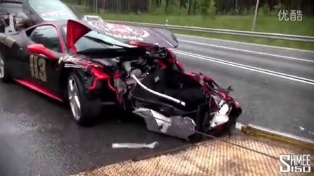 【SC】CRASHED - Ferrari 458 Italia on Gumball 3000 2013
