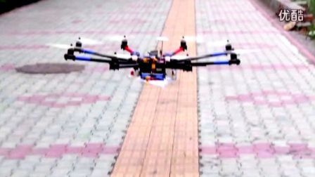 SuperX飞控 大八轴大负载(14kg)测试
