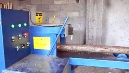 Multi-chip sawing lumber sheet multi-saw in the sawmill production video