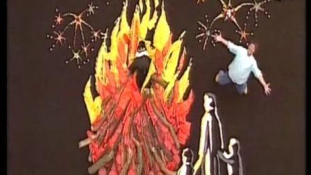 艺术创想手工制作之拼装大型篝火晚会现场