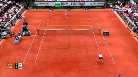 2013法国网球公开赛女单SF 莎拉波娃VS阿扎伦卡 (自制HL)
