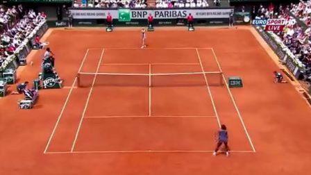 2013法国网球公开赛女单决赛 莎拉波娃VS小威廉姆斯 (自制HL)