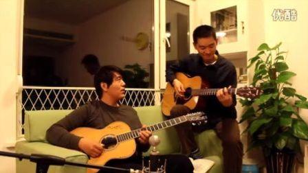 吉他弹唱 beyond《海阔天空》(大叔和家明)