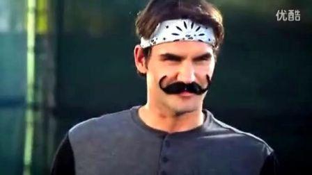 2013费德勒Wilson球拍广告-假胡子好阿拉丁啊!