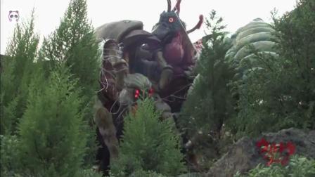 岛屿上的怪兽大战, 雷德王VS巴顿VS班匹拉