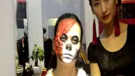 杜能聪老师化骷髅彩妆视频