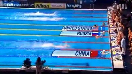 孙杨最后一棒逆天追赶游出全场最快 中国蝉联男子4x200接力铜牌