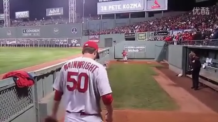 Adam Wainwright Bullpen - 2013 World Series G1- Fenway Park