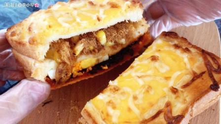 创意老干妈烤土司制作方法