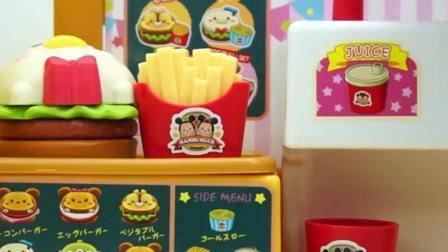 过家家汉堡包店薯条面包超人玩具试玩