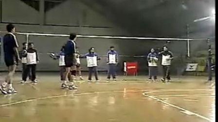 排球教学视频27 专位防守训练、背溜
