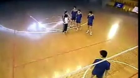 排球教学视频30 背飞扣球、防守训练、二传