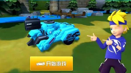 变形汽车破冰甲摧毁巨岩壁 跳跃战士儿童游戏