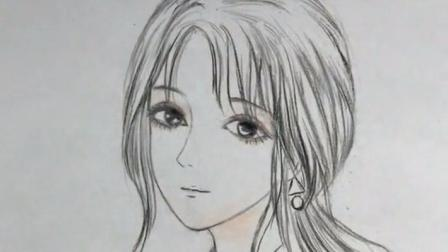 手绘教程:教你画女生的马尾