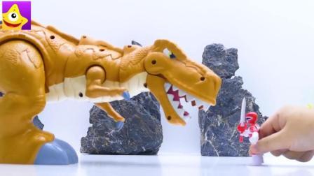 儿童英雄故事玩具, 钢铁侠高科技拯救变成恐龙的小动物