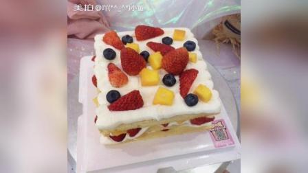 美拍视频: 水果裸蛋糕#美食#