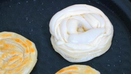 油饼新做法, 一个独特的方法, 让饼皮薄如纸, 鼓泡越大越劲道