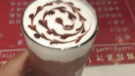 美女老板的特调美味饮品——卡布奇诺咖啡, 好喝的美味