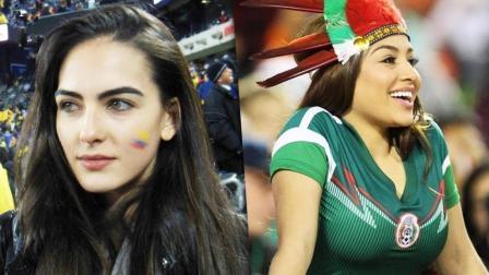 世界杯美女球迷争奇斗艳 看了半天还是觉得亚洲面孔符合我的审美