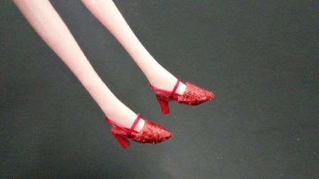 夏天来了, 赶紧给芭比娃娃做双迷你高跟凉鞋, 简单漂亮女生都喜欢