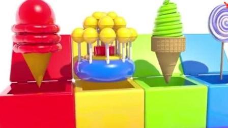 做彩色冰激凌和棒棒糖, 用彩色糖果给奥利奥饼干染上彩色