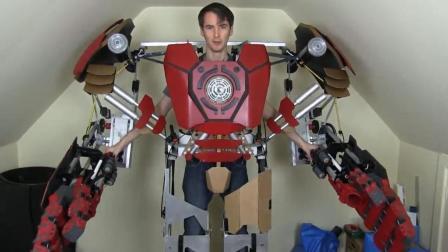 牛人制作超酷的钢铁侠反浩克装甲, 动手能力太强了!
